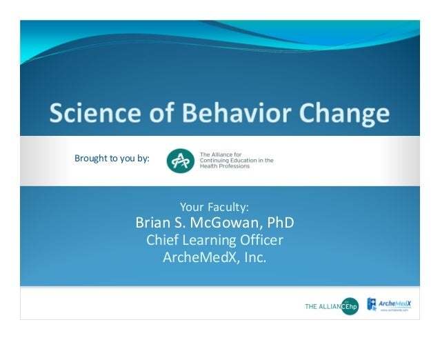 Introduction to the science of behavior change - mini lecture #acehp14