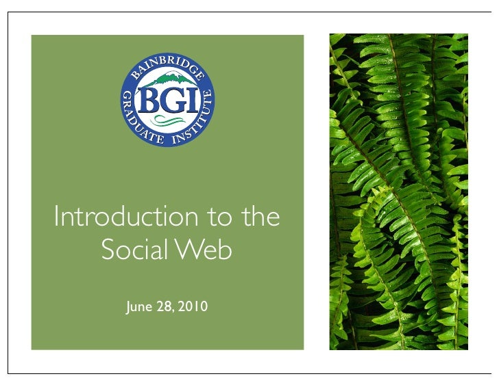 Introduction to the Social Web (BGIedu 2010 06-28)