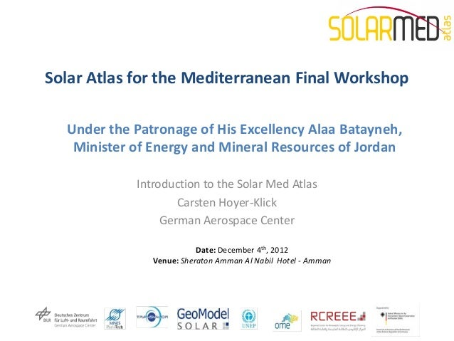 Introduction to the solar med atlas