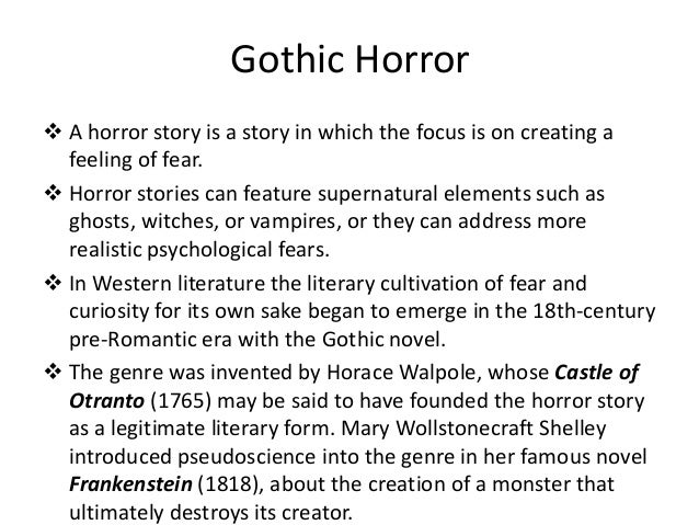 gothic introduction essay