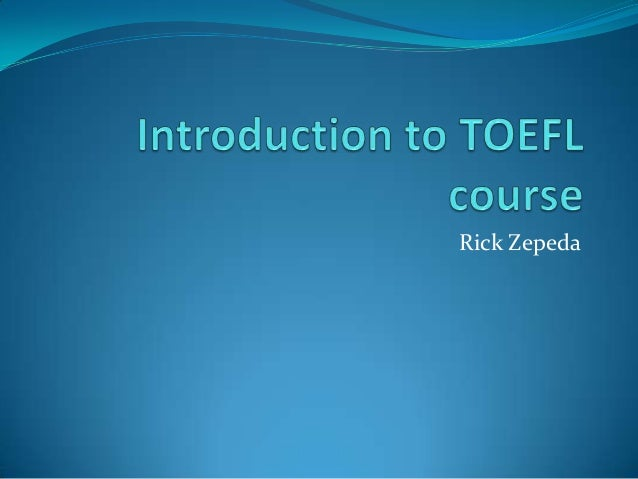 Introduction to toefl course