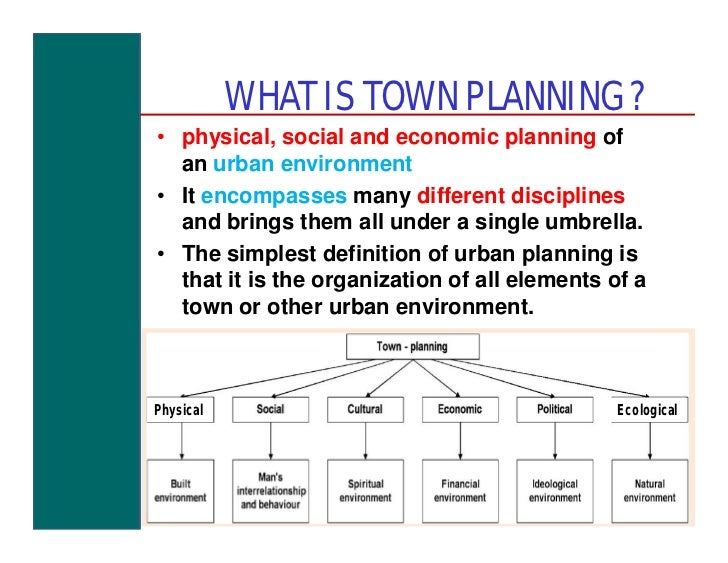 role of town planner pdf