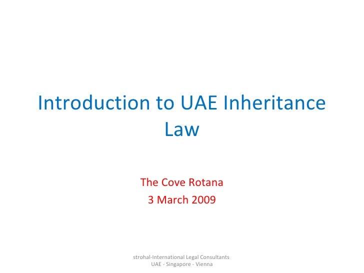 Introduction To UAE Inheritance Law