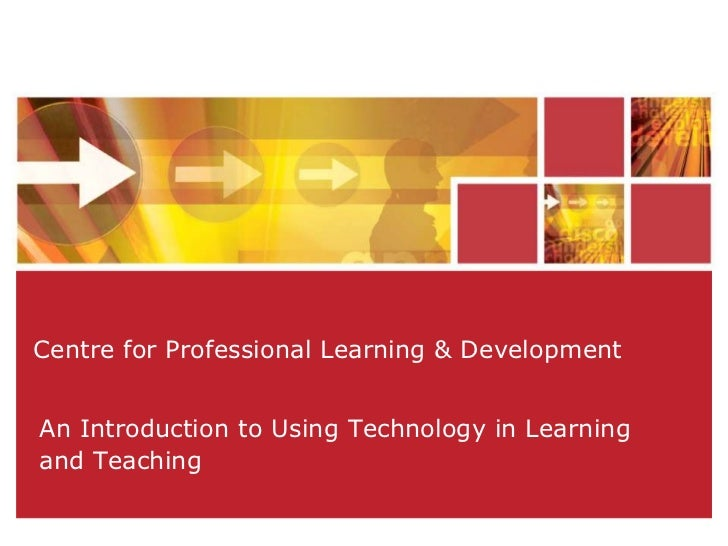 Introduction to using technology in learning and teaching