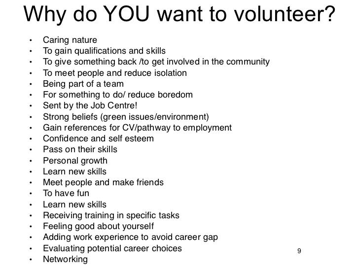 volunteer in church essay