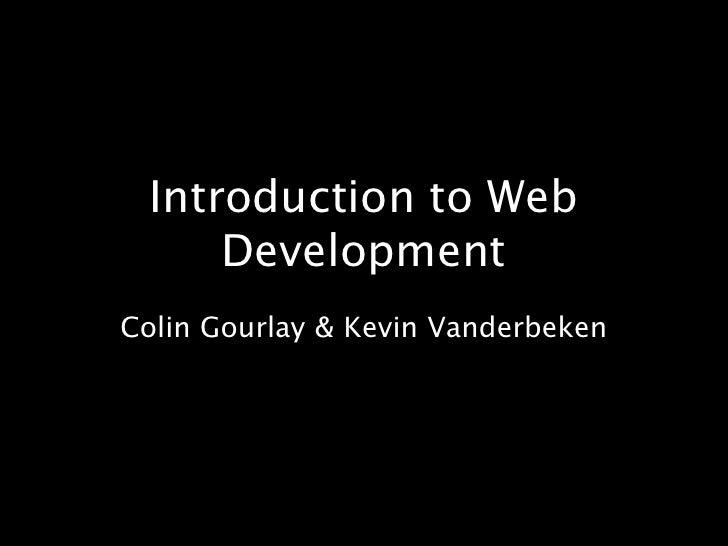 1-01: Introduction To  Web  Development
