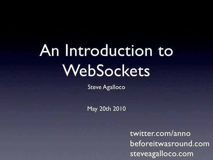 Introduction to WebSockets