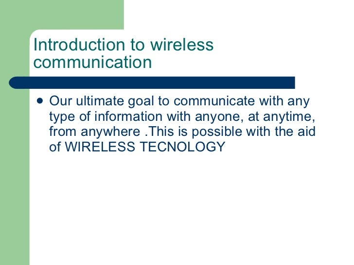 4g wireless communication