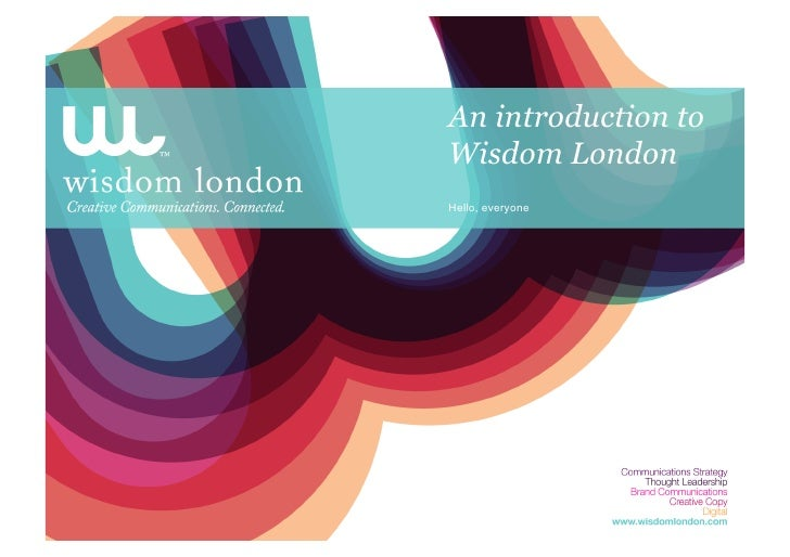 Introduction To Wisdom London Jul10