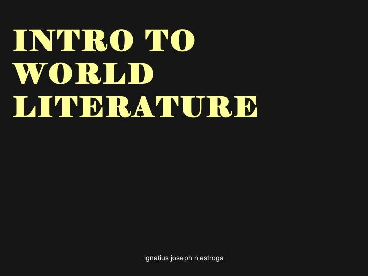 Introduction to world literature[1]