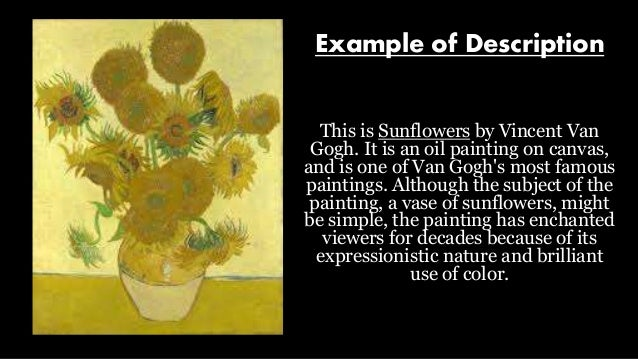 sample descriptive essay painting