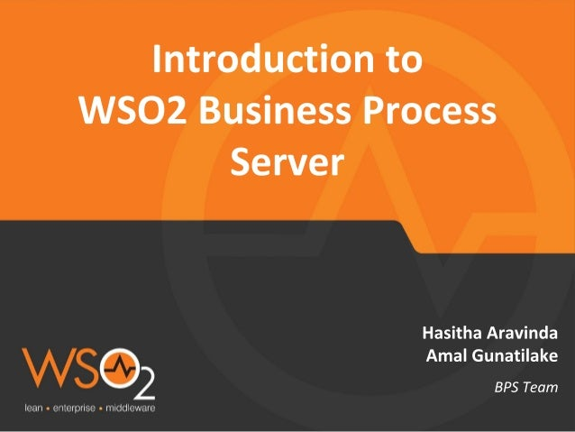 Introduction to WSO2 Business Process Server