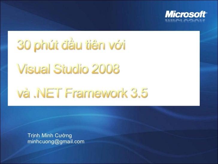 Trịnh Minh Cường [email_address]