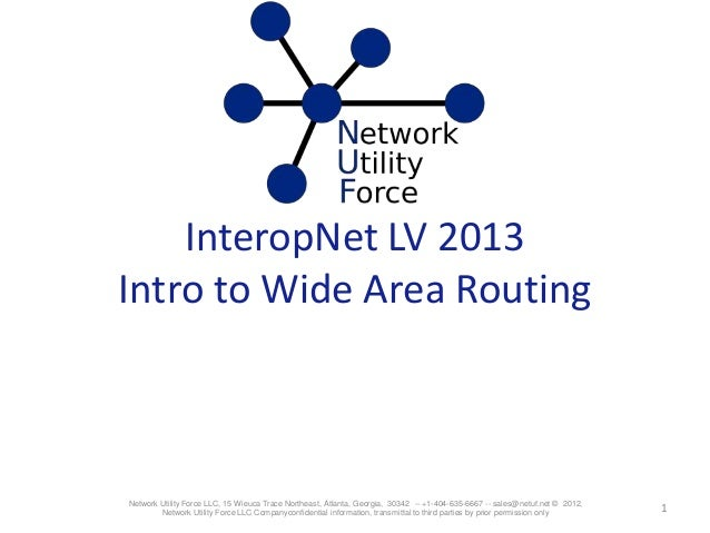 Introduction to Wide Area Network Routing