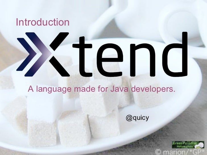 Introduction  A language made for Java developers.                         @quicy