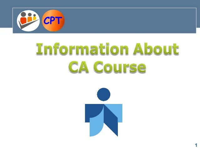 CA Course Information Lecture