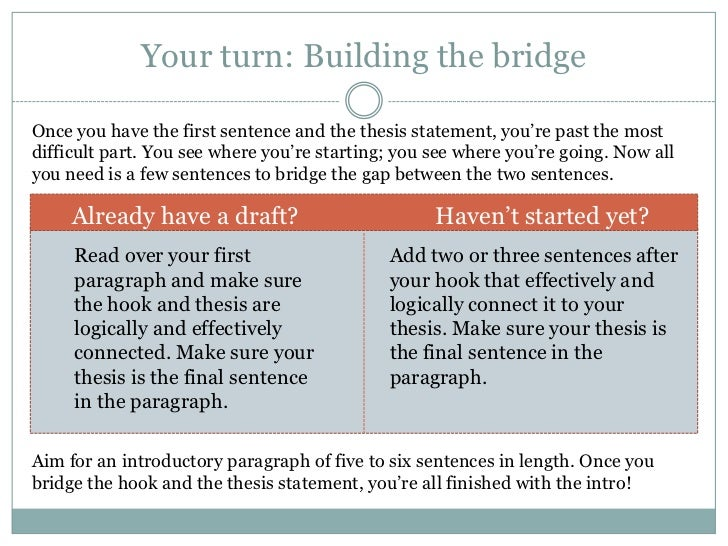 Guide: Developing a Thesis Statement