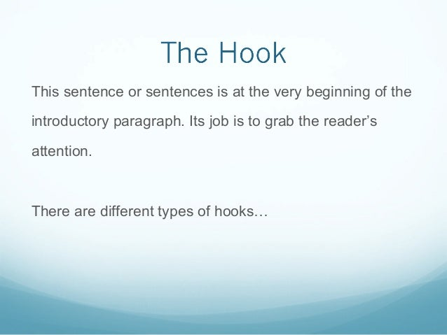 introductory paragraph hook thesis
