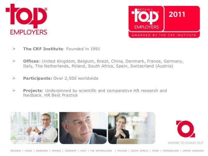 <ul><li>The CRF Institute : Founded in 1991 </li></ul><ul><li>Offices : United Kingdom, Belgium, Brazil, China, Denmark, F...
