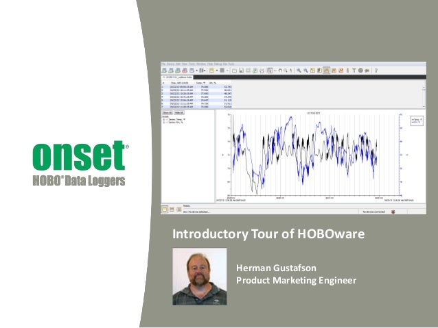 Introductory Tour of HOBOware Herman Gustafson Product Marketing Engineer