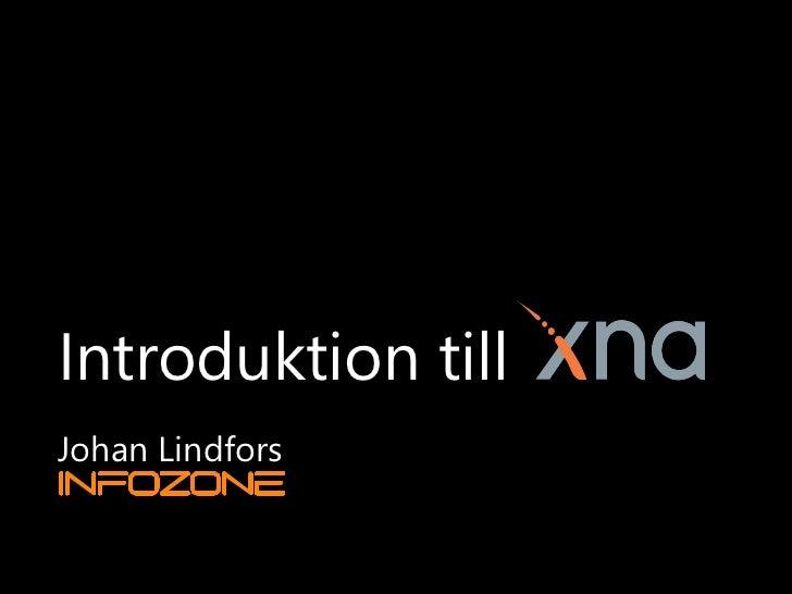Introduktion till XNA