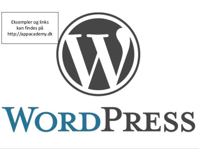 Introduktion til wordpress   App Academy