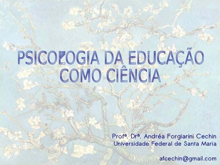 Introdução - Psicologia da Educação