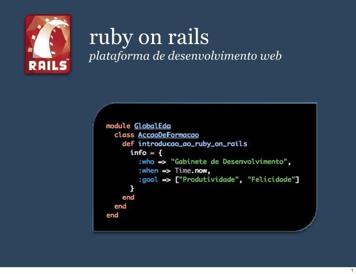 ruby on rails plataforma de desenvolvimento web                                         1