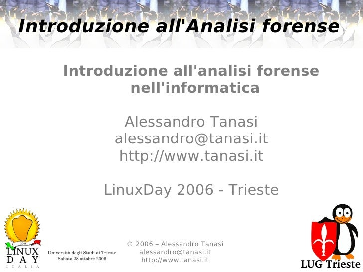 Introduzione all'analisi forense