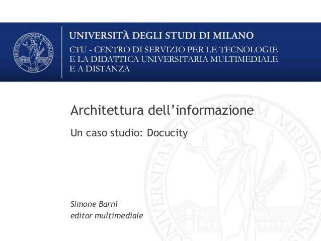 Introduzione all'Architettura dell'Informazione