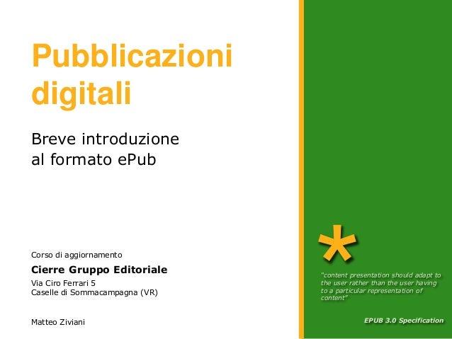 Epub - Corso CIERRE Edizioni