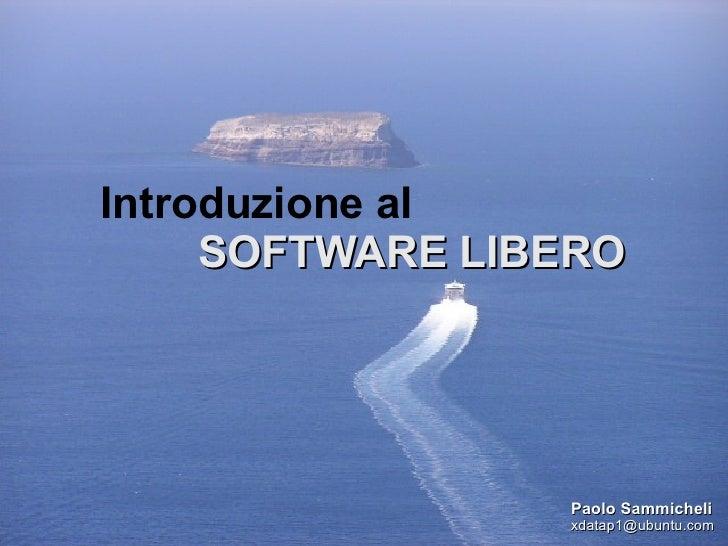 Introduzione al Software Libero