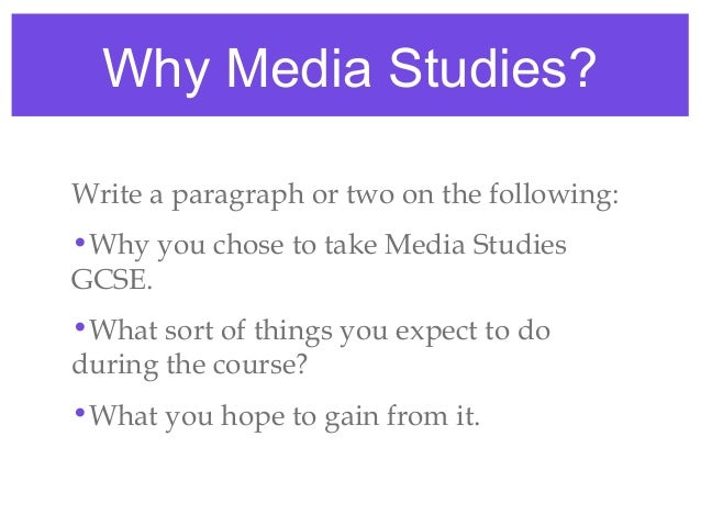 What kind of things do you do in GCSE Media Studies?
