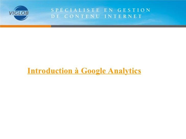 Introduction à Google analytics