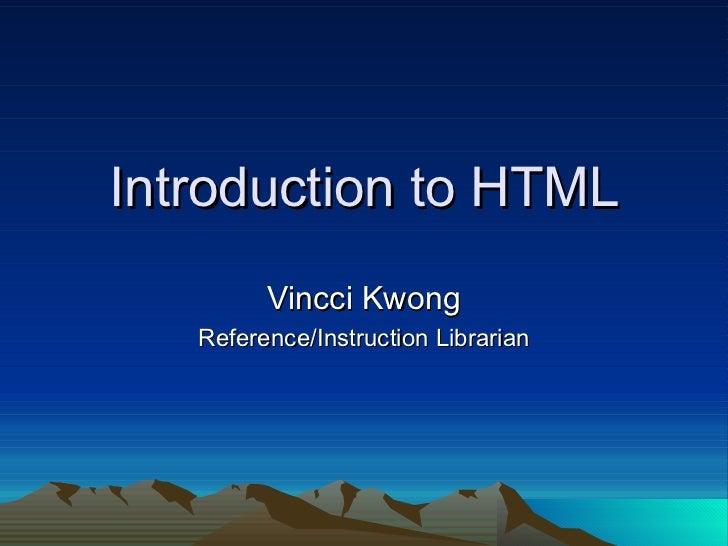 YL Intro html