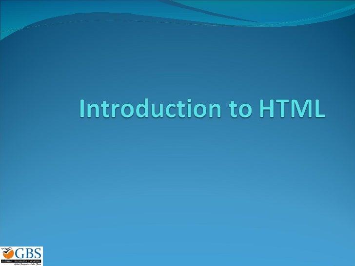 Intro Html
