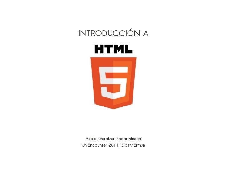 Introduccion a HTML5