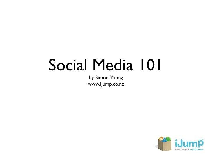Social Media 101 - my Marketing Now presentation
