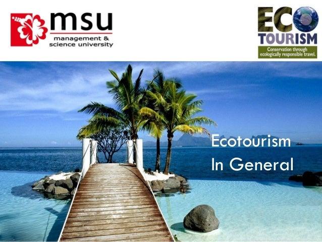 Intro in Eco Tourism