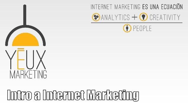 www.yeux.com.mx 1. ¿Qué es Internet Marketing? 2. Internet en México (2010 vs 2011 vs 2012). 3. Conceptos Básicos 4. Proce...