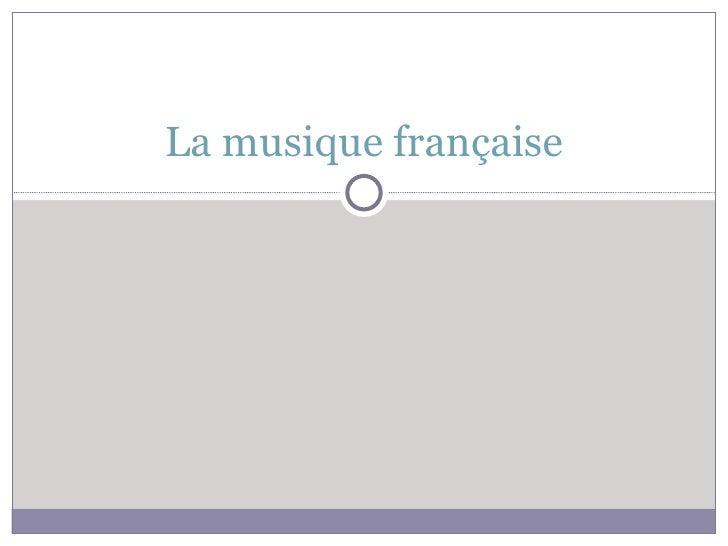 Intro la musique française