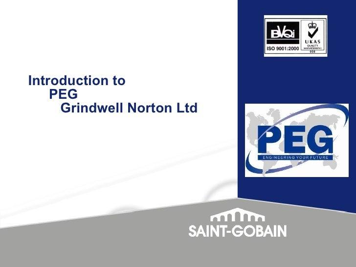 Introduction to  PEG  Grindwell Norton Ltd