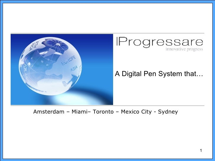 A Digital Pen System that…