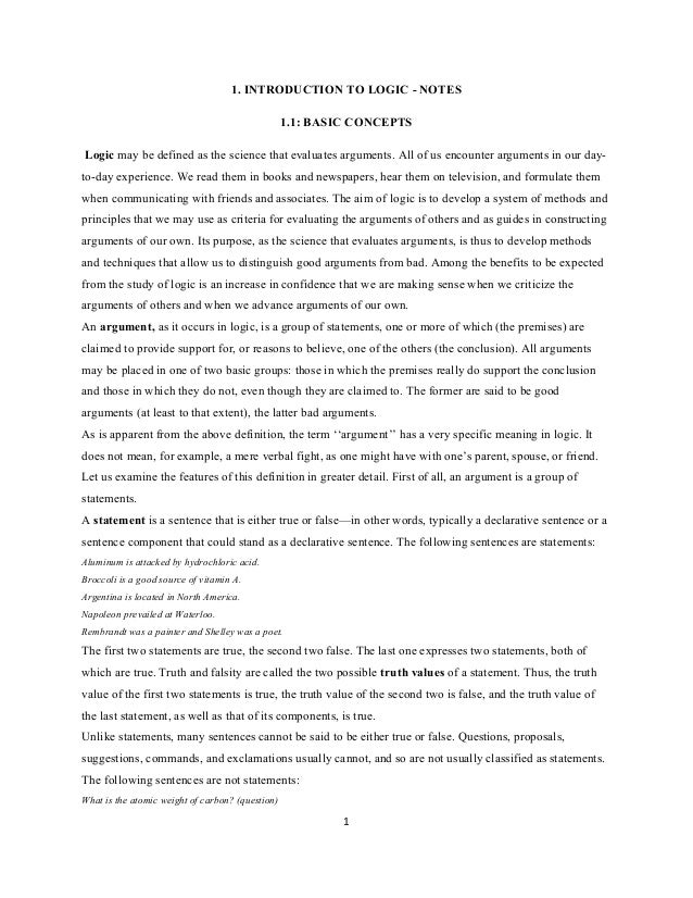 Intro logicnote ch 1