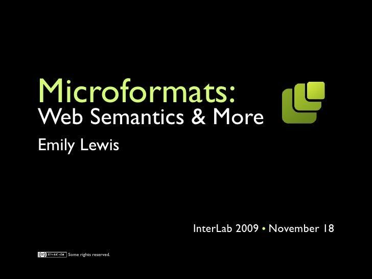Microformats: Web Semantics & More