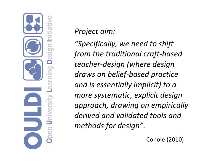 Overview of the OULDI project
