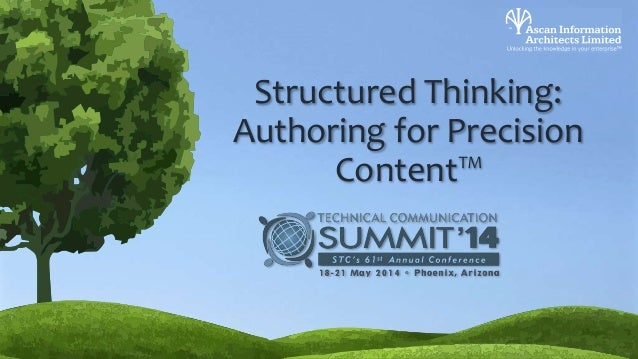 Structured Thinking: Authoring for Precision Content™