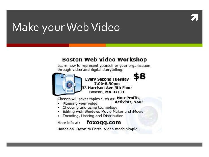 Make your Web Video<br />