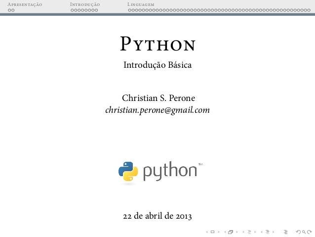 Python - Introdução Básica