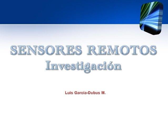 Intro sensores remotos
